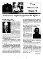 Institute Report. April 2, 1993